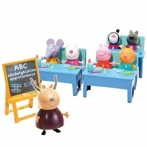 Peppa Pig Andare All Scolastici Scuola Scuola Materna Di Maiale Di