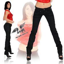 REPLAY Damen Jeans Hose Röhre Röhrenjeans Gerade Straight Gr.25/34 Schwarz  529A