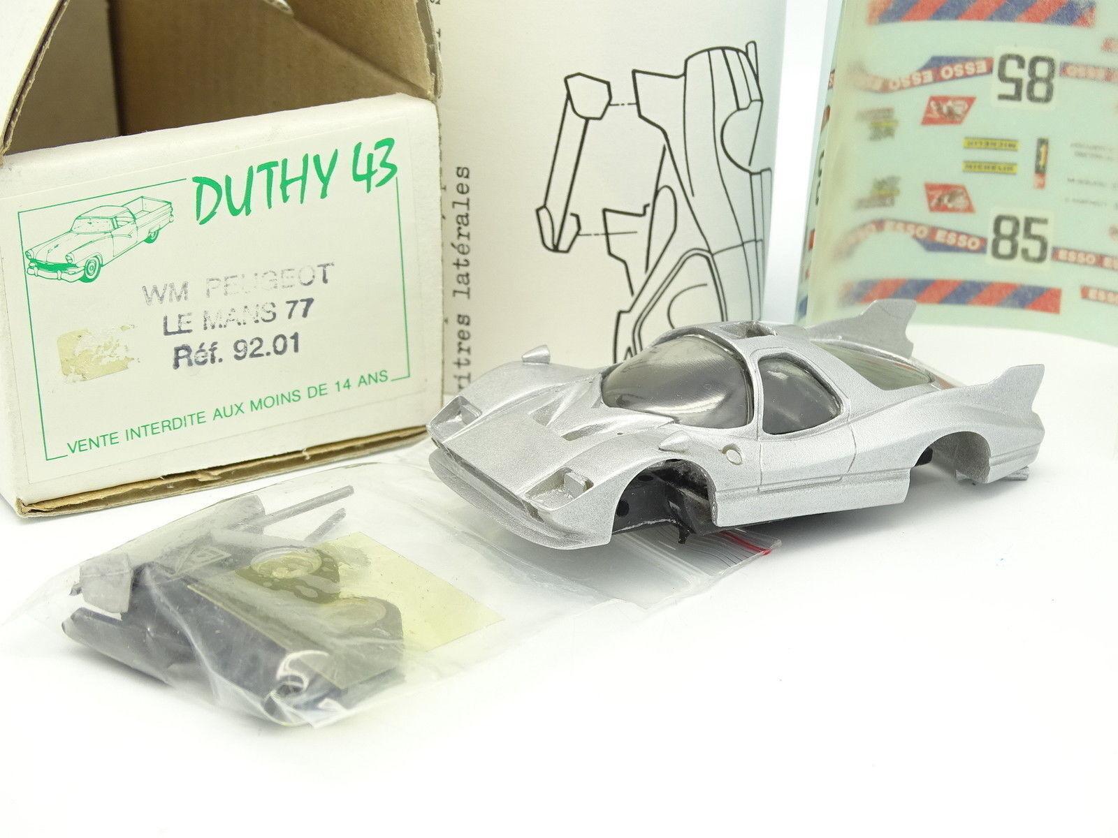 Duthy 43 Kit à Monter Prépeint 1 43 - WM Peugeot Le Mans 1977