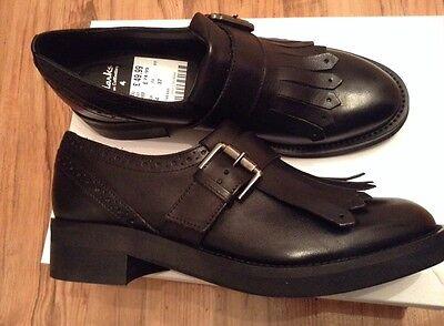 Ambizioso Nuovo ❤ Clarks ❤ Italian Collection Pelle Nero Tg Uk 4 (37 Eu) Rrp 74.99-talian Collection Black Leather Shoes Uk 4 (37 Eu) Rrp 74.99 It-it Calcolo Attento E Bilancio Rigoroso