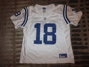sports shoes 73b6b 4bbdb Details about Peyton Manning #18 Indianapolis Colts Super Bowl Reebok NFL  Jersey Womens LG L