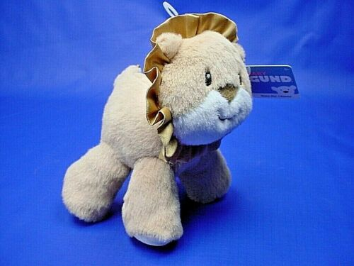 """Baby GUND Safari Rattle  /"""" Leo /"""" Lion  5/"""" New with tags                    G1"""