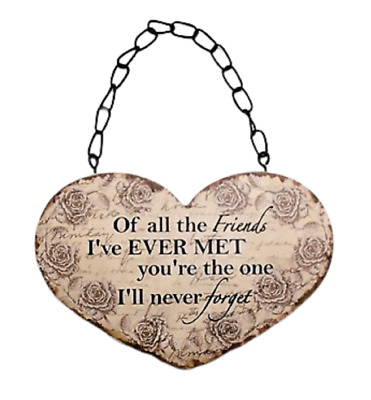 Heart Plaque Family /& Friends Always Welcome Black Sign 23cm Gift F0616