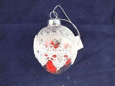 VETRO Trasparente Albero di Natale Palline con Sfere Rosso Soft appuntite all'interno della casella 6.