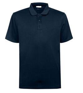 Men-039-s-Basic-a-manches-courtes-100-polyester-Coolen-Polo-S-3XL