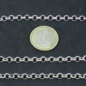 DéVoué 3 Metros Cadena Plateada 5mm A224 Chaîne Kette Metalic Silver Catena Argentada Forte RéSistance à La Chaleur Et à L'Usure