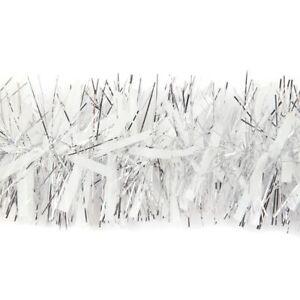 Festa-Di-Natale-Decorazione-Ghirlanda-xmastree-Decor-2m-bianco-argento-grosso-decorazioni
