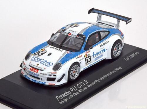 gt3 R #53 1:43 Minichamps Porsche 911 997 class winner spa 2010