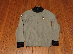 grey ralph lauren cable knit jumper pony jacket