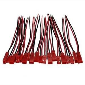JST-BEC-STECKER-amp-BUCHSE-MIT-KABEL-210mm-10-PAAR-2-Pin-G5X8-s-Stecker-RC-I5C3