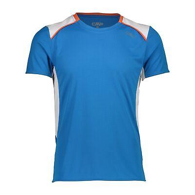 Fein Cmp Laufshirt Shirt Man T-shirt Blau Atmungsaktiv Antibakteriell Unifarben