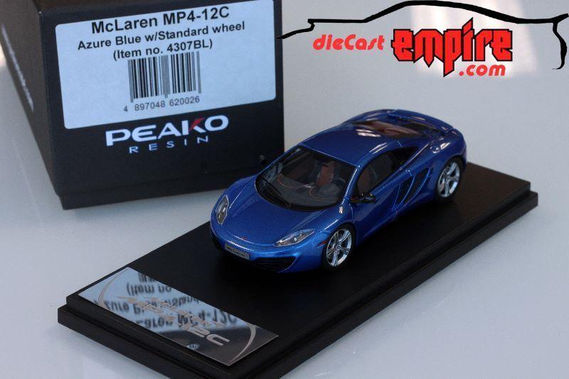 Peako Model 1 43 - McLaren MP4-12C Azure bluee w  Standard wheel 4307BL