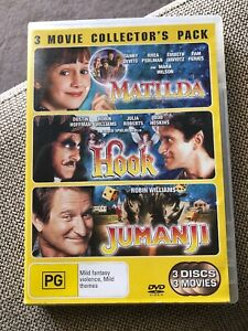 Matilda-Hook-Jumanji-DVD-s-Collectors-Pack-Danny-Devito-Robin-Williams-PAL