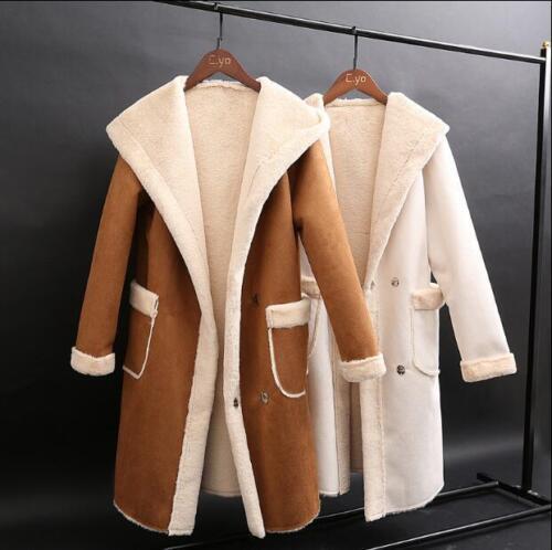 Personnalité chauds en capuchon vestes à occasionnels poches parka dame manteaux daim neige chauds ZnrF6qZS0