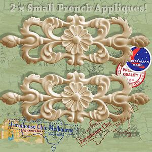 Decor-Art-Furniture-Appliques-2-x-Shabby-French-Chic-Small-Filigree-Appliques