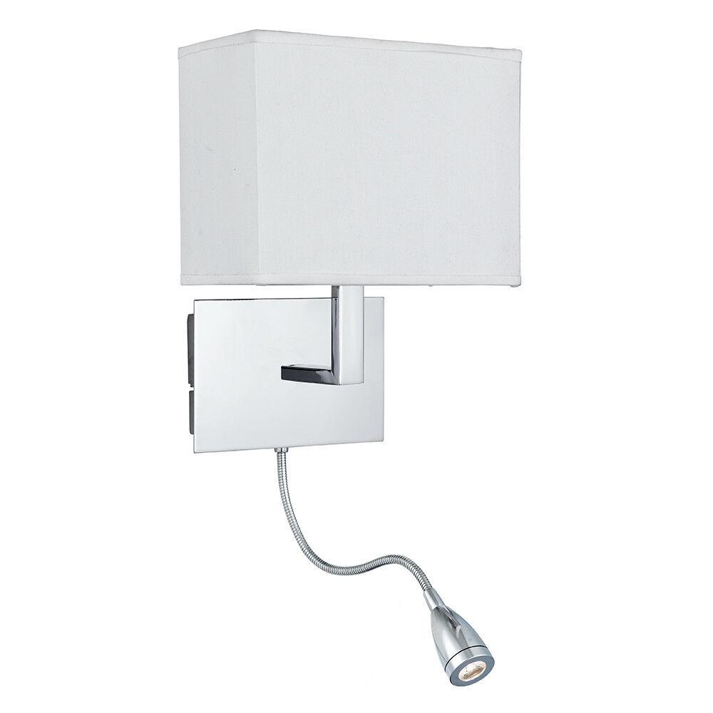 PROIETTORE a doppio braccio flessibile a LED CROMATO commutata Muro Muro Muro Staffa Di Montaggio Luce Nuovo 13dda9