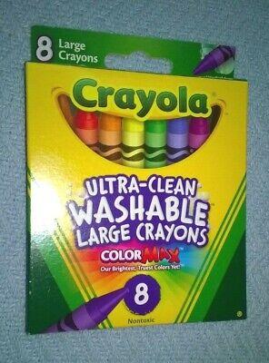 Nontoxic ColorMax Crayola Crayons 8 Large Ultra Clean Washable Crayons