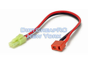 Charge-Cable-Adapter-Deans-Female-to-AIRSOFT-Tamiya-Mini-Male-Plug-LiPo-Lead