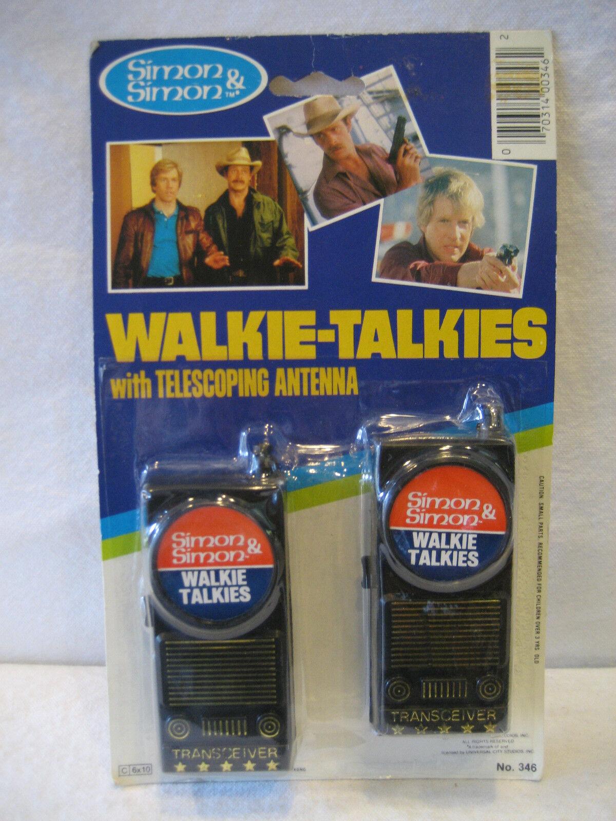 1983 vintage SIMON & SIMON toy Walkie-Talkies MOC Gordy International set RARE
