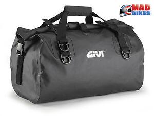 Dettagli su Givi EA115BK (WP400) Moto Impermeabile Sacchetto Dei Bagagli 40L Resistente Dry