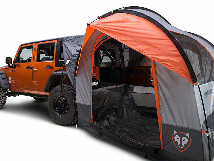 RIGHTLINE GEAR SUV Jeep Minivan 4 Person Tent W  Waterproof Cap & Screens 110907