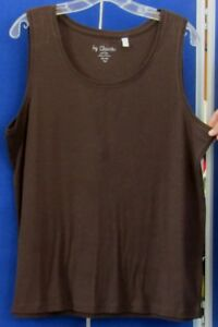 EUC-Pretty-TANK-Cami-TOp-by-CHICO-039-S-Brown-Sz-3-Washable-100-COTTON-Very-SOFT