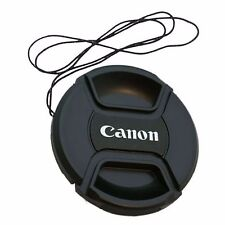 2 x 58 mm Snap On Front Lens Cap Cover Center Pinch String for Canon EOS Camera