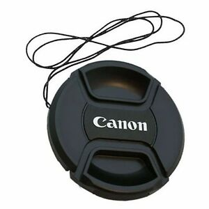 72-mm-Snap-On-Front-Lens-Cap-Cover-Center-Pinch-with-String-for-Canon-EOS-Camera