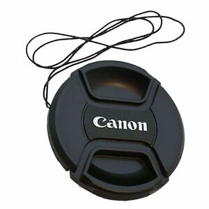 2-x-58-mm-Snap-On-Front-Lens-Cap-Cover-Center-Pinch-String-for-Canon-EOS-Camera