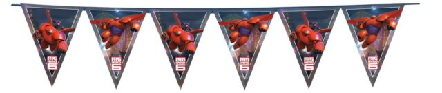 Big Hero 6 Happy Birthday 2.3m Flag Banner -Hero Six Baymax Bunting & Decoration