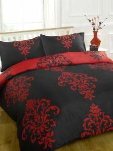 Savoy Black Red King Bed Size Duvet Quilt Cover Bedding Set Ebay
