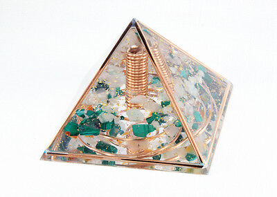 MADE-TO-ORDER Copper Frame Large Orgone Pyramid Healing Energy Quartz Orgonite