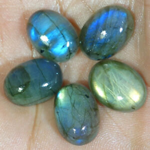 05-Pcs-Lot-Labradorite-Cabochon-Loose-Gemstone-100-Natural-Oval-Shape-Fire-Lot