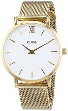 Cluse Woman Watch Gold Mesh Steel Case Reloj Mujer Bracelet Pulsera Crystal Arm