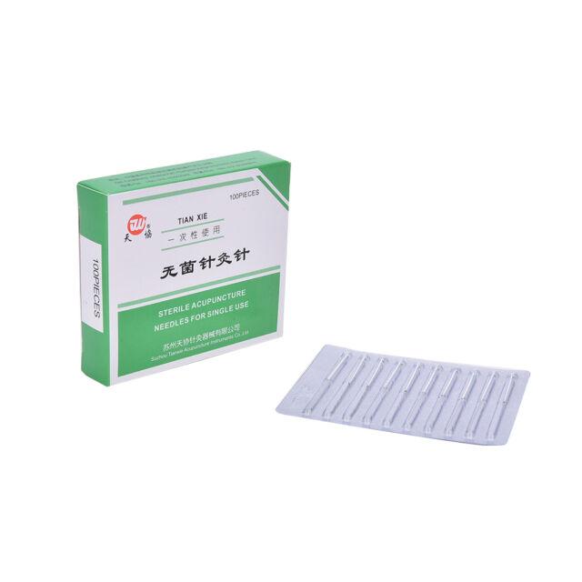 100piezas agujas acupunturas de terapia alternativas 25mm x0.25mm para la saluJN