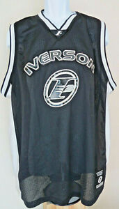 hot sales 0fe47 c7ce5 Details about ALLEN IVERSON JERSEY Sixers 76ers I3 Black REEBOK Philly  Philadelphia