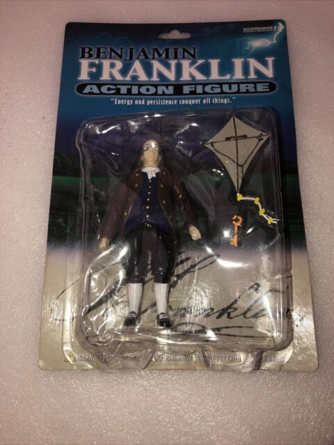 Rare Benjamin Franklin Action Figure Accoutrements  New In Box