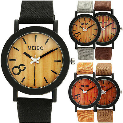Casual Women MEN Fashion Watch Lady Leather Strap Quartz Dress Date Wrist Watch