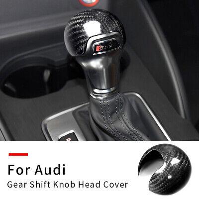 Carbon Fiber Gear Shift Knob Cover Trim For Audi A3 S3 2012-2018 Car Accessories