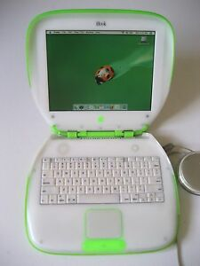 Vintage-APPLE-iBOOK-G3-CLAMSHELL-366MHZ-KEYLIME-COLLECTIBLE-EXCELLENT-RARE