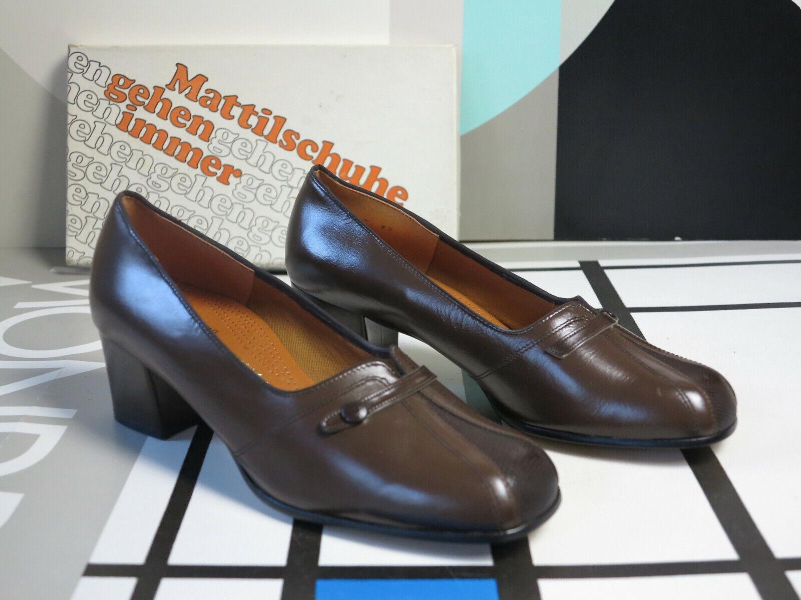 liquidazione MOLLA Gang Donna Mezza scarpa décolleté Marrone 60er 60er 60er True Vintage 60s donna scarpe NOS  ti renderà soddisfatto