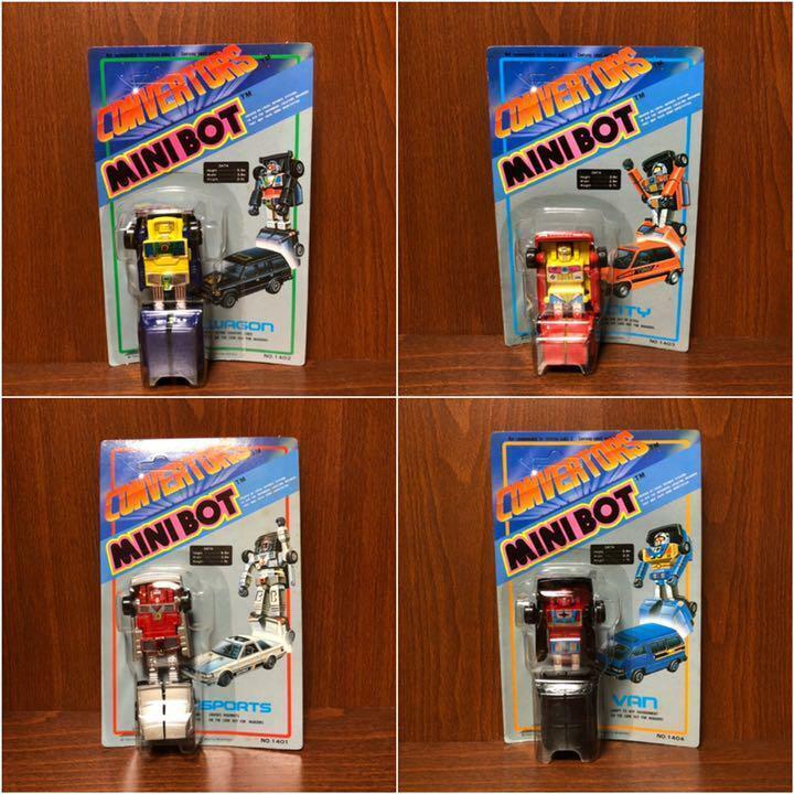 Transformers  ConGrüners MINIBOT Transformer 4 set