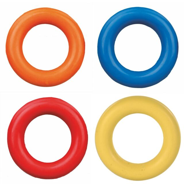 Trixie Dog Toy Ring Natural Rubber Various Sizes Diameter 9 Cm 3320
