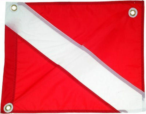Dive Flag Scuba Diving Heavy Duty Nylon Flags  replace Stiffener Boat Float Flag  first-class quality