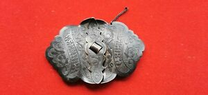 Buckle-Belt-Solid-Silver-Niellee-Antique-Punch-Russian-REF55274