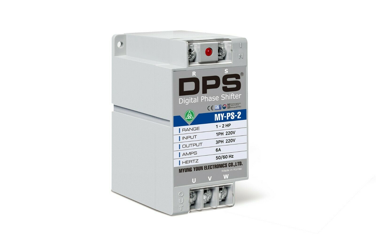 1 Phase to 3 Phase Converter, MY-PS-2, Best for 1HP(0.75KW) 3 Amp 200-240V Motor