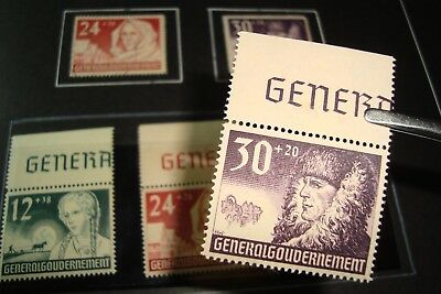 = Sammlung Dr Generalgouvernement In Den Hauptnummern Komplett, Kat. Ca. 600€ = 100% Original