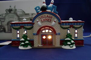 Dept 56 Snow Village Bowling Alley  |Bowling Alley Snow