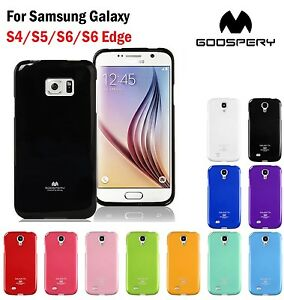 buy popular a8a4f 7ec38 Details about Mercury Goospery Pearl Jelly TPU Soft Case for Samsung Galaxy  S4/S5/S6/S6 Edge