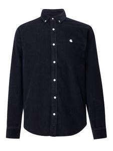 abb2081aeee1 Carhartt Wip Madison Cord Shirt Dark Navy Blue Wax Corduroy LS ...